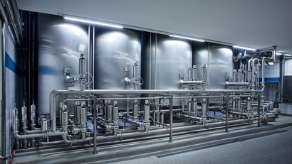 CIP system in a brewery